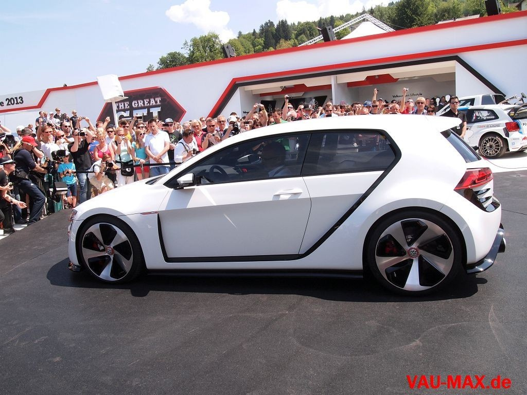 bilder vw golf 7 gti design vision 2013 dieser gti zeigt. Black Bedroom Furniture Sets. Home Design Ideas