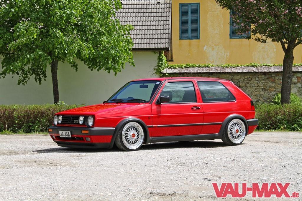 Alles auf Rot Perfekter Golf 2 mit Audi S3-Motorumbau: Besser als Neu: OEM + Tuning am Golf 2 ...
