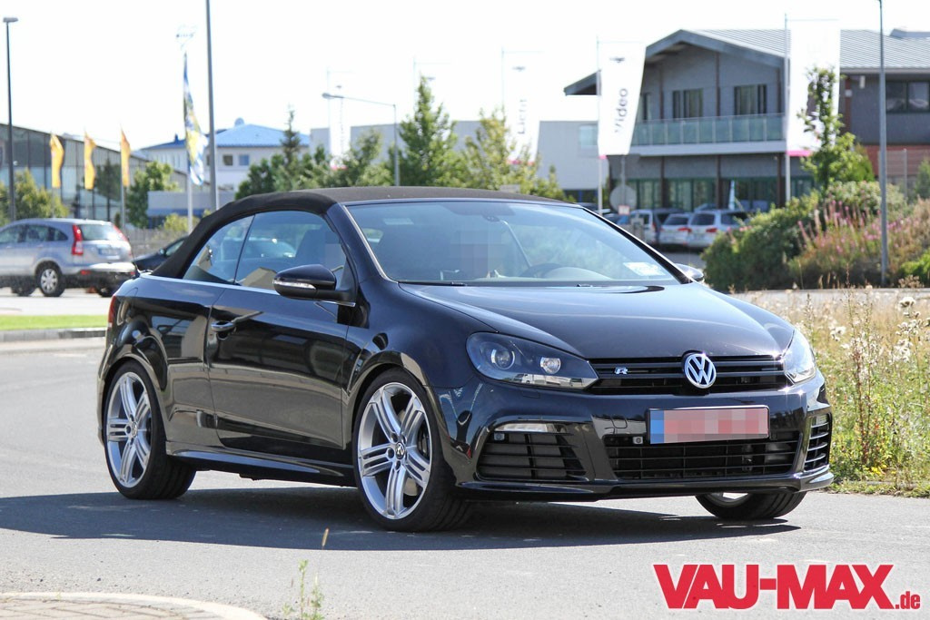 bilder golf 6 r cabrio ungetarnt erwischt last edition des golf 6 kurz bevor der neue siebener. Black Bedroom Furniture Sets. Home Design Ideas