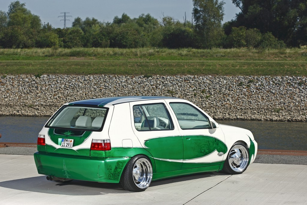 Die Bilder Custom Tuning Am Vw Golf 3 Vr6 Der Golf Von