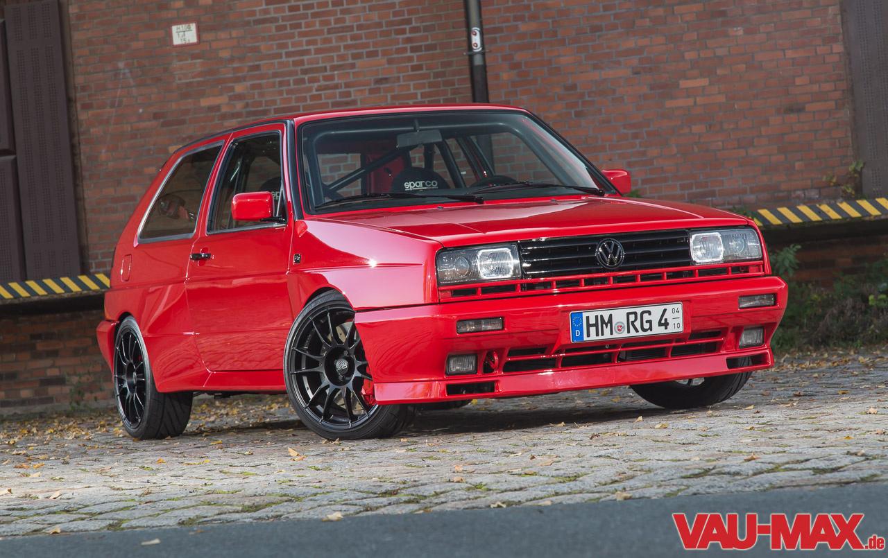 Der Rote Rallye Golf V Turbo Rentierschlitten Expresslieferung Zu Weihnachten on Vw Mk2 16v Turbo