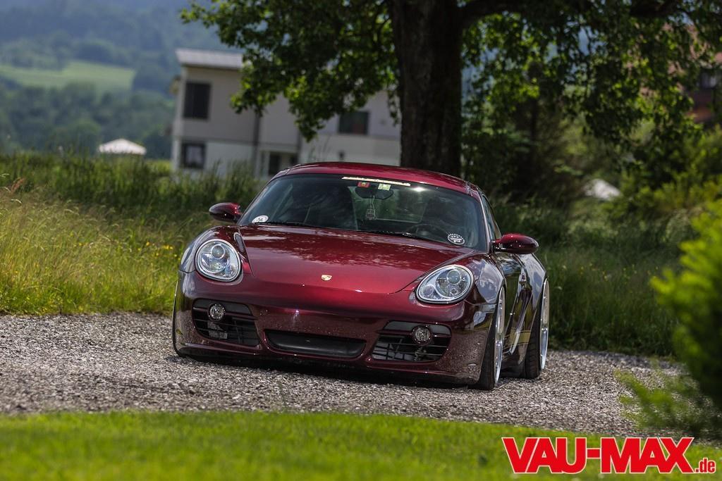 Breites Hinterteil Am Rad48 Cayman Porsche Mit Po