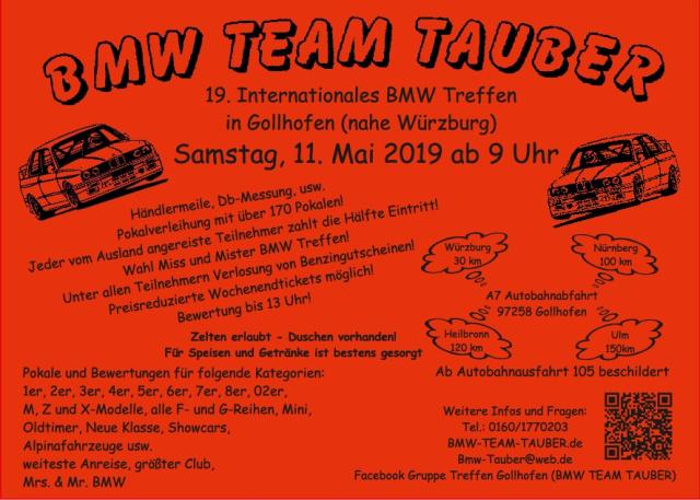 19 Int Bmw Treffen Gollhofen Samstag 11 Mai 2019 Gollhofen