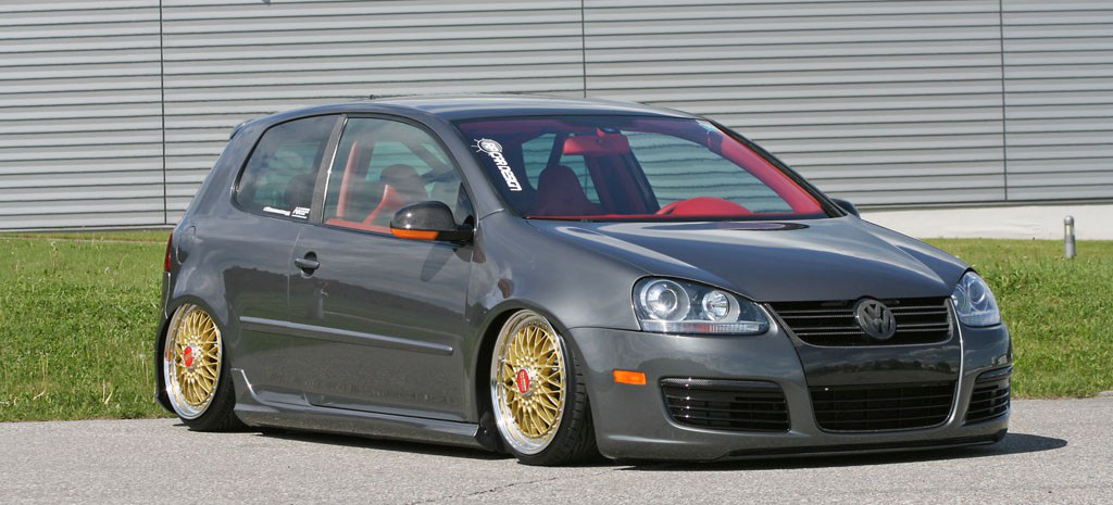 paradieserisch rot knalliges golf 5 gti tuning auf bbs. Black Bedroom Furniture Sets. Home Design Ideas