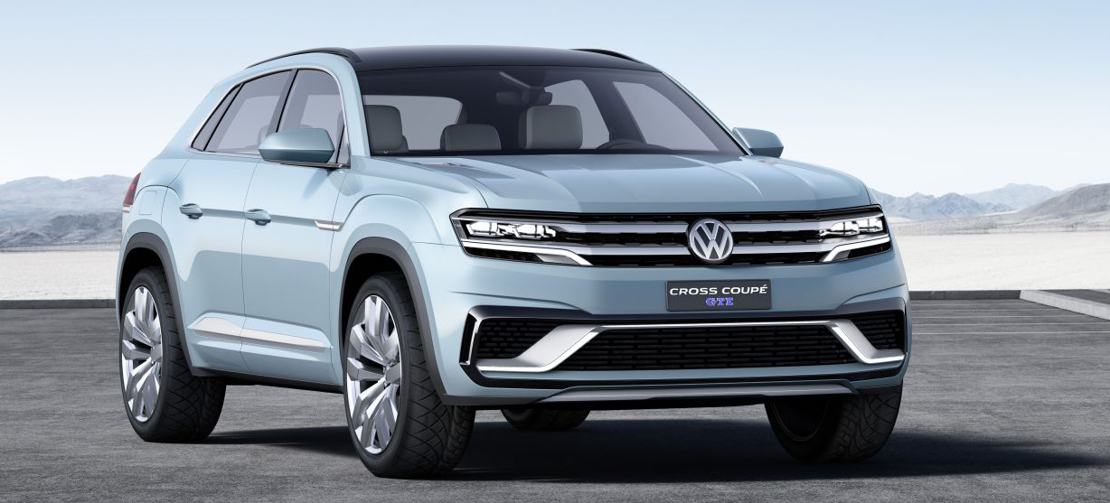 zwischenschritt vw zeigt us suv zwischen tiguan und touareg weltpremiere des vw cross coup. Black Bedroom Furniture Sets. Home Design Ideas
