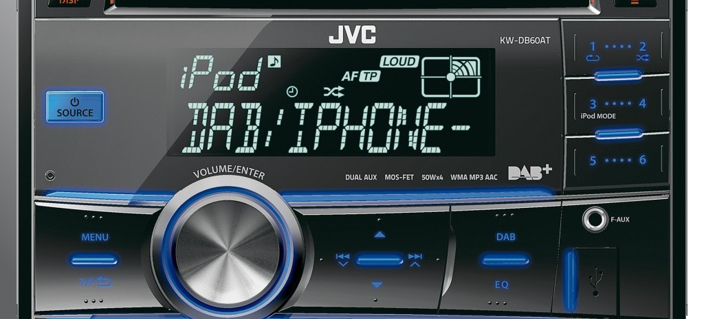 digitalradio erster dab doppel din receiver von jvc der. Black Bedroom Furniture Sets. Home Design Ideas