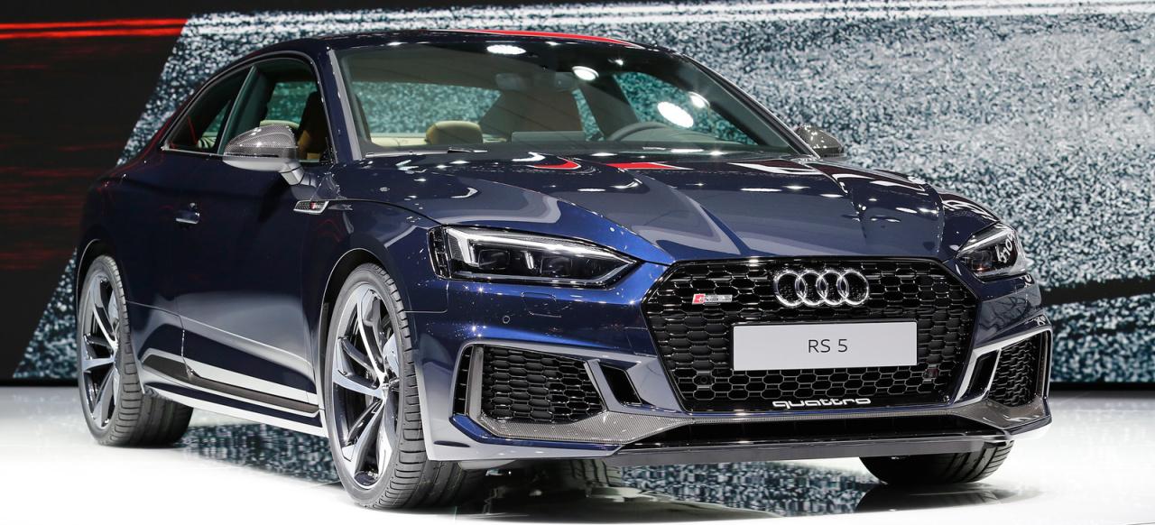 V6 biturbo mit 450 ps f rs a5 coup genf 2017 der neue for Audi a6 breite mit spiegel