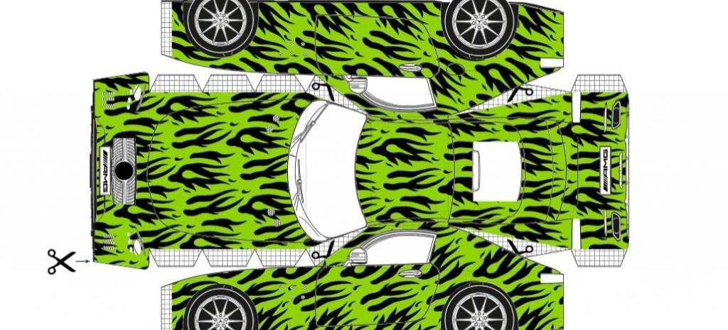 Tolle Idee Mercedes Amg Gt Zum Selbst Drucken Und Basteln