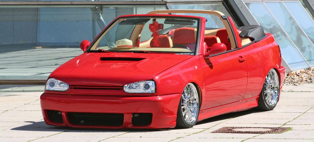 rote liebe rostet nicht golf 3 cabrio tuning dreier cabrio mit teilen vom vr6 und 60 ps golf. Black Bedroom Furniture Sets. Home Design Ideas
