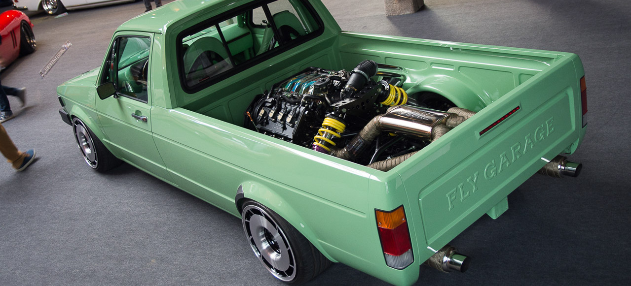 vw caddy mit audi v8 im heck extrem tuning made in polen. Black Bedroom Furniture Sets. Home Design Ideas