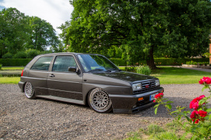 All inclusive: 1990er VW Rallye Golf mit Tiefgang und superseltenen Ballermann-Wheels