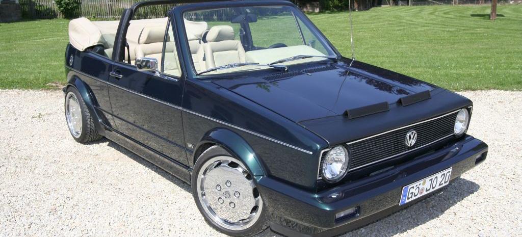 golf 1 16v turbo cabrio offener leckerbissen 16v turbo power im klassischen golf 1 cabrio. Black Bedroom Furniture Sets. Home Design Ideas
