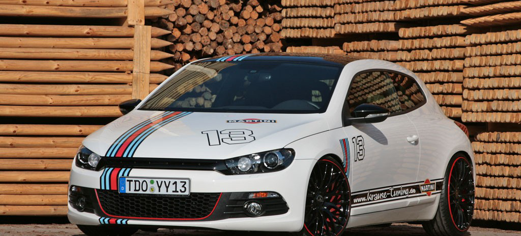 cooles vw scirocco 3 tuning in drei tagen martini racing. Black Bedroom Furniture Sets. Home Design Ideas