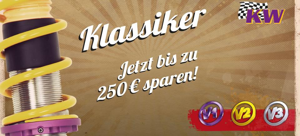 jetzt kw gewindefahrwerk kaufen und bis zu 250 euro sparen die kw klassiker aktion ist zur ck. Black Bedroom Furniture Sets. Home Design Ideas