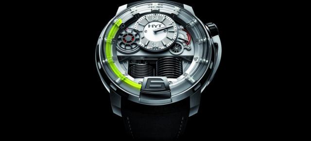 uhr zeit erste hydro mechanische armbanduhr h1 von hyt auf der baselworld 2012 pr sentiert die. Black Bedroom Furniture Sets. Home Design Ideas