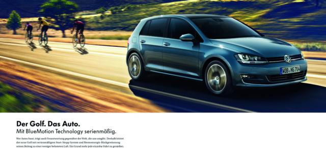 Volkswagen Ist Der Werbe K 246 Nig In Deutschland Mit Einem