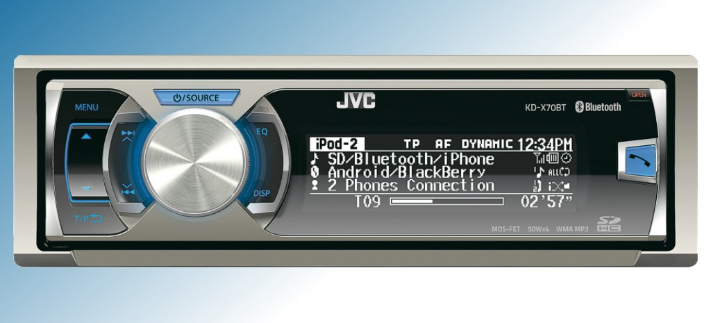 neuer 1 din digital media receiver jvc kd x70bte mit. Black Bedroom Furniture Sets. Home Design Ideas