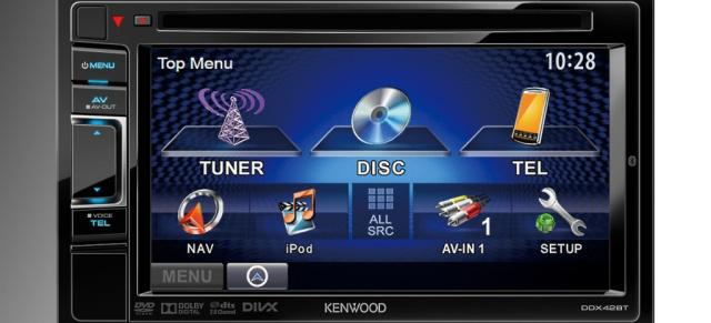 neue multimedia moniceiver kenwood ddx4023bt ddx42bt mit mirrorlink funktion f r smartphones. Black Bedroom Furniture Sets. Home Design Ideas