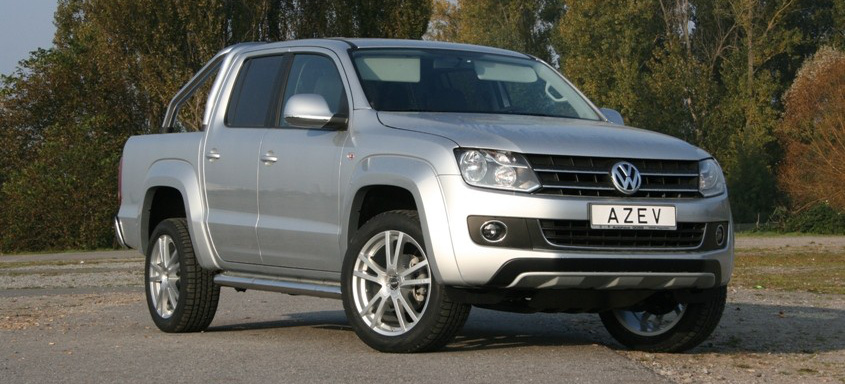 vw amarok felgen tuning azev stellt den vw pick up auf 20. Black Bedroom Furniture Sets. Home Design Ideas