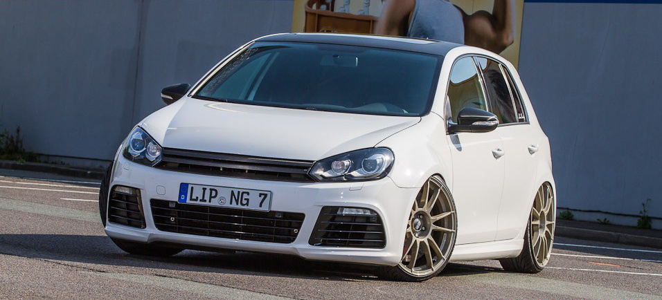 """Sechs Freunde sollt ihr sein – VW Golf 6 R36 mit KW Gewinde und OZ Wheels: Was Volkswagen nicht mehr schafft – ein Fan hat den """"richtigen"""" R wiederbelebt. - Auto der Woche"""