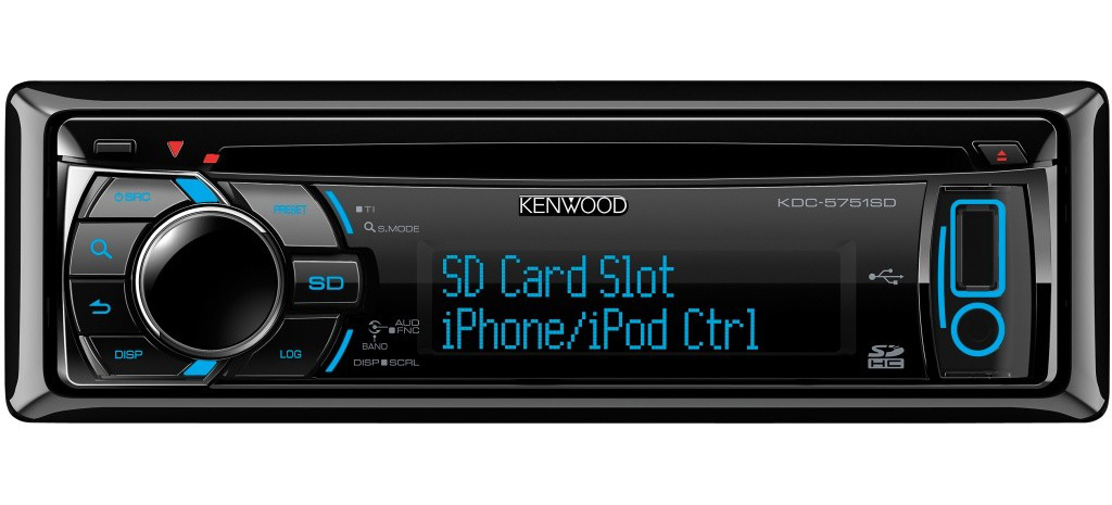 kenwood cd autoradio f r usb stick ipod iphone und sd. Black Bedroom Furniture Sets. Home Design Ideas