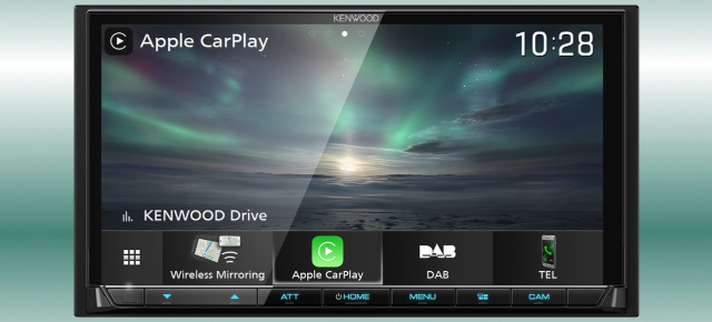 Kabelloses In-Car-Infotainment: Neuer Kenwood Multimedia-Receiver mit integriertem WLAN-Modul für Wireless CarPlay und Android Wireless Mirroring