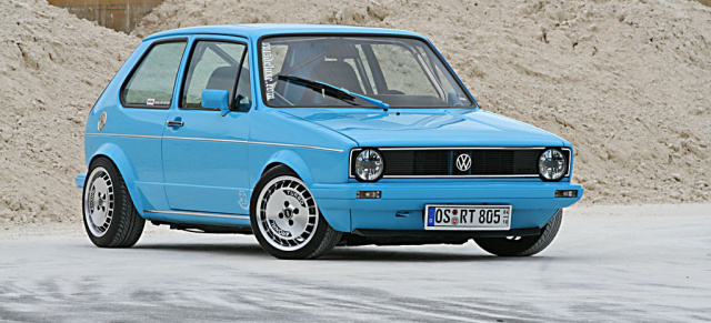 der etwas andere golf plus vw golf 1 im german race style. Black Bedroom Furniture Sets. Home Design Ideas