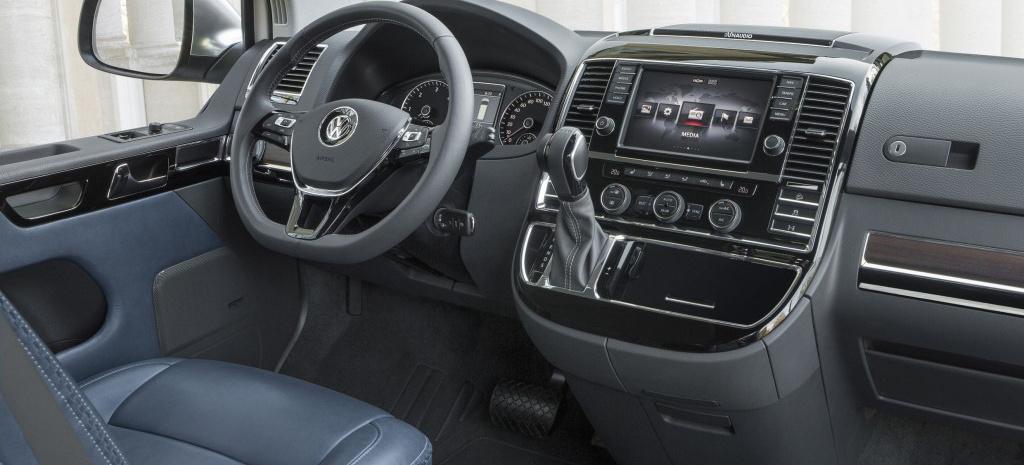 Der VW T5 Multivan Alltrack mit Golf 7 Navi und Innenraumfacelift: Bekannte Optik, aber ein neues Innenleben für den T5. - VAU-MAX-Inside
