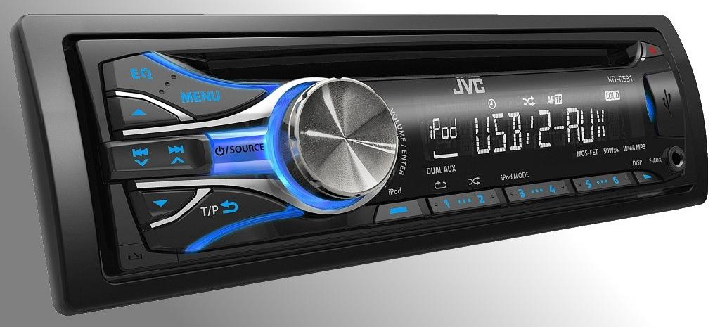 einsteigermodelle 2012 neue usb cd receiver von jvc die 1 din modelle kd r531und kdc r531. Black Bedroom Furniture Sets. Home Design Ideas