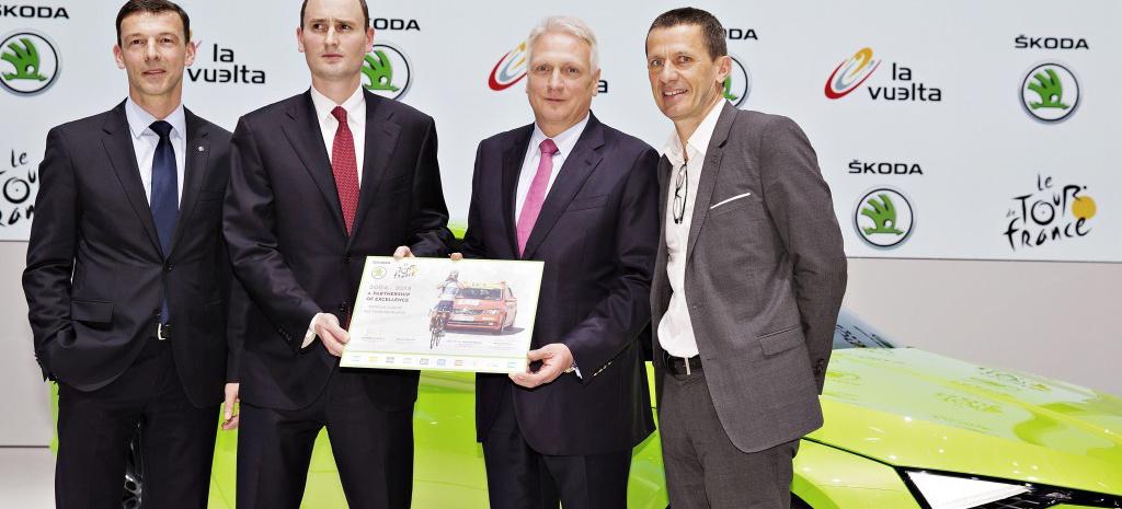 SKODA bis 2018 offizieller Partner der Tour de France: SKODA und Tour-Vermarkter A.S.O. verlängern erfolgreiche Zusammenarbeit um weitere fünf Jahre