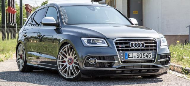 Audi Sq5 Mit 22 Zoll Und Kw Gewindefahrwerk Steilvorlage