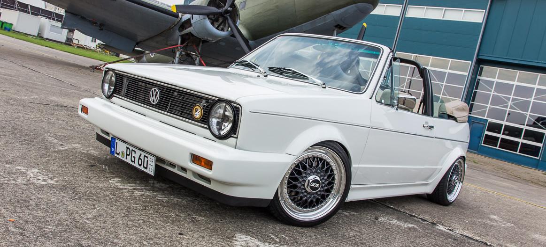 Kennzeichen PG Diesem VW Golf Cabrio sieht man an, was