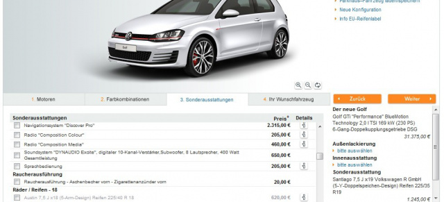 es geht los golf 7 gti gti performance und gtd sind. Black Bedroom Furniture Sets. Home Design Ideas