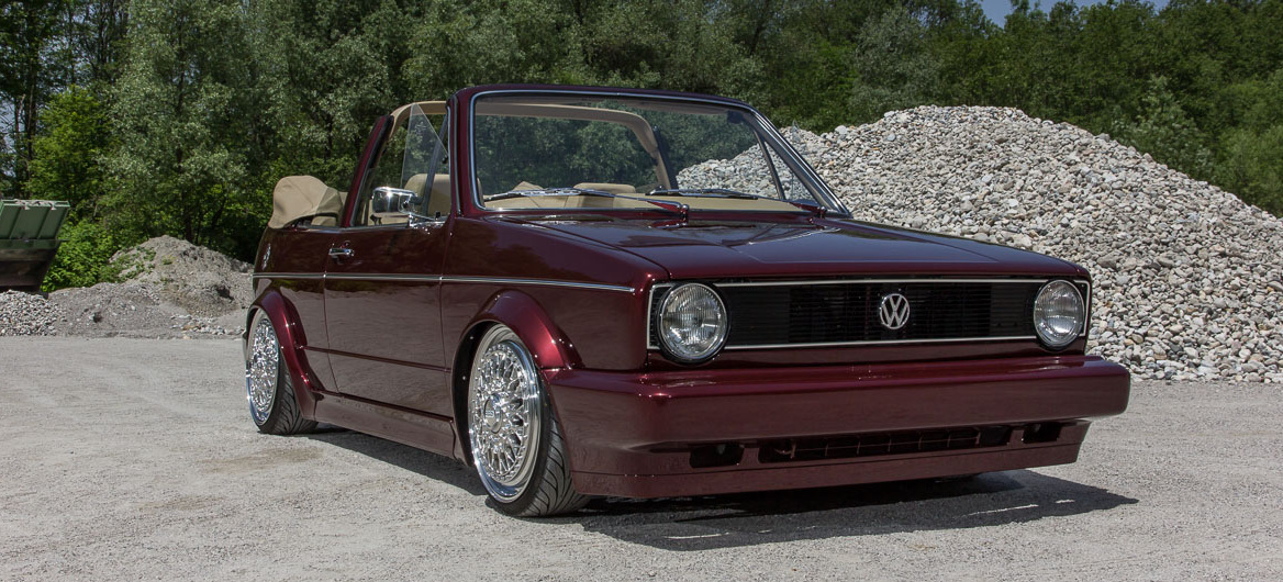 Twan Niemeijers VW Golf 1 Cabrio Dieses Erdbeerkörbchen