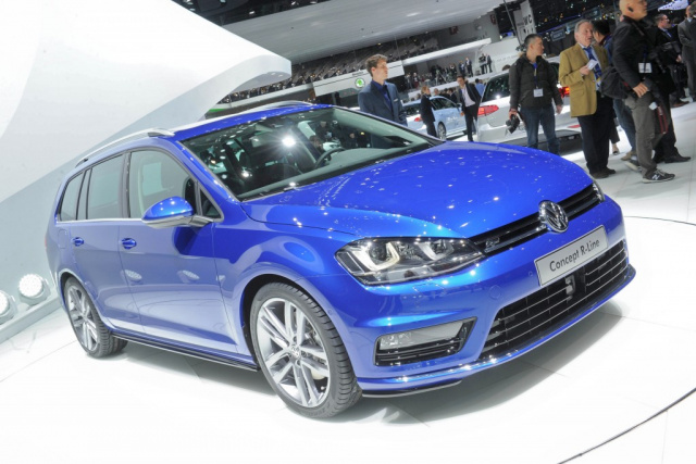 vw golf 7 variant r line concept bekommen kombi fans. Black Bedroom Furniture Sets. Home Design Ideas